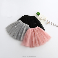 Baby Girl Star Tutu Skirt Kids Chiffon Fluffy Pettiskirt Dance Wear Skirt