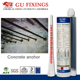 High pressure injection construction epoxy grout rebar grouting