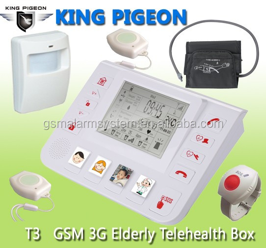 King Pigeon GSM SOS Senior Alert,Elderly Aids Alarms, GSM Wireless Elderly Alarm.