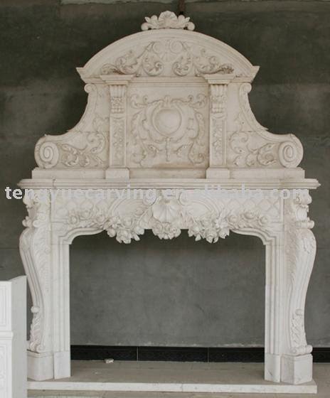 Decoracion marmol blanco chimeneas de la chimenea piezas de ...