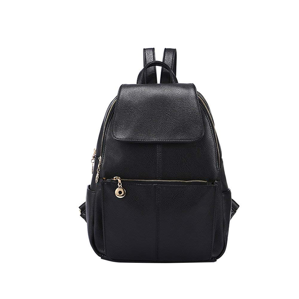 Get Quotations · Big PU Leather Backpack Daypacks Purse for Girls and Women  Daypack School Shoulder Travel Bag Rucksack d5b70bb7437e6