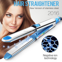 Electronic New Mini Portable Ceramic Hair Straightener Curler Irons Styling Tools Mini USA 220-240V
