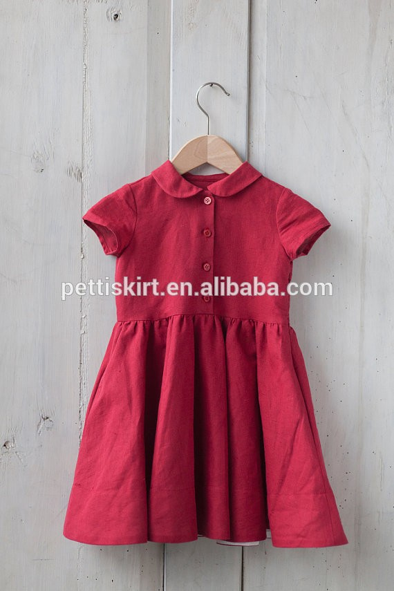 398b9e413 Newest Infant Toddler Pink Frock Design Cotton Clothing Baby Girls ...