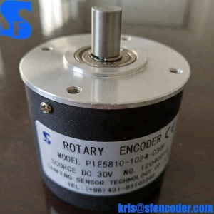 PIE58-10-1024-G30F 10mm Shaft Elco High Resolution Rotary Encoder Sensor
