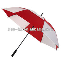 quality 2-layer high quality golf ,windproof golf umbrellas