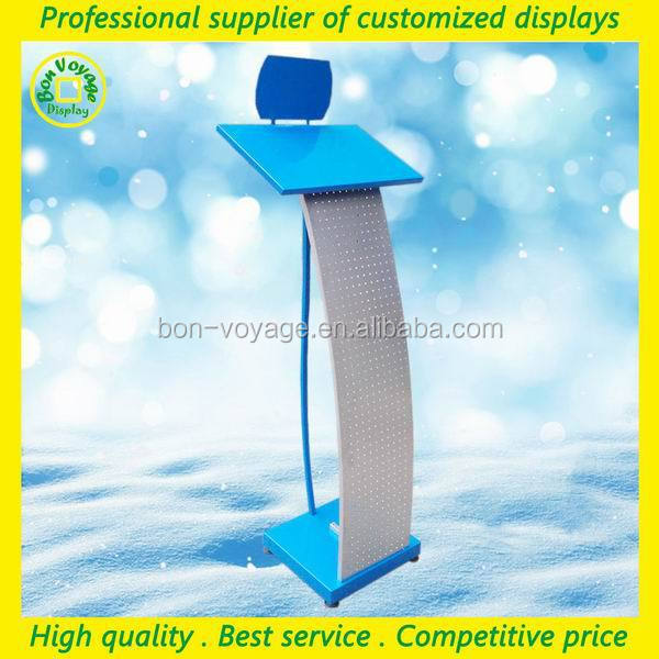 professional metal floor pegboard electronic accessory exhibition display stand
