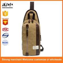 Hot selling chest bag cross body bag leisure messenger chest pack with low price