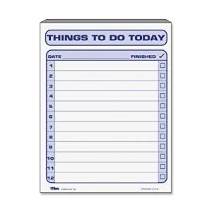 """Tops Things To Do Today Pad - 100 Sheet(s) - 8.5"""" x 11"""" Sheet Size - White - 1Pad"""