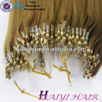 100% Remy Keratin Human Full Cuticle Brazilian Micro Ring Loop Hair Extensions