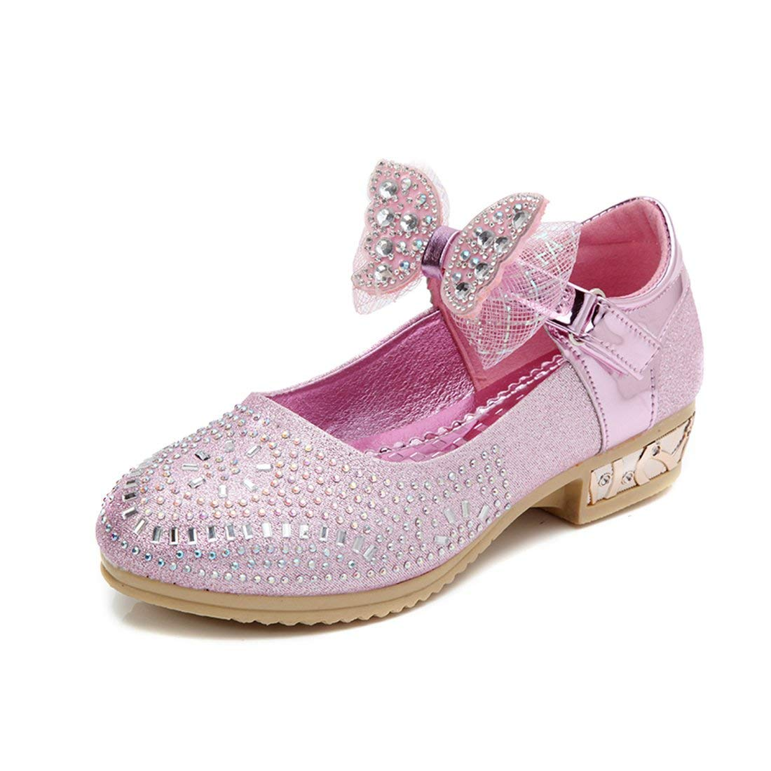 YIBLBOX Girls Kids Toddler Dress up Cosplay Princess Wedding Shoes Mary Jane Low Heel Shoes