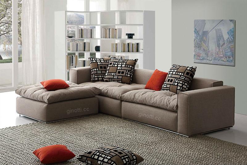 sof de la tela mobiliario moderno italiano