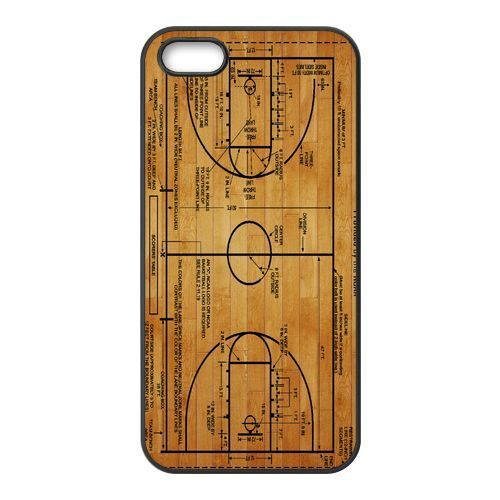 Free Shipping New Basketball Court Diagram Cover Case for Apple iPhone 5 and 5s Cases i phone 5 and 5S