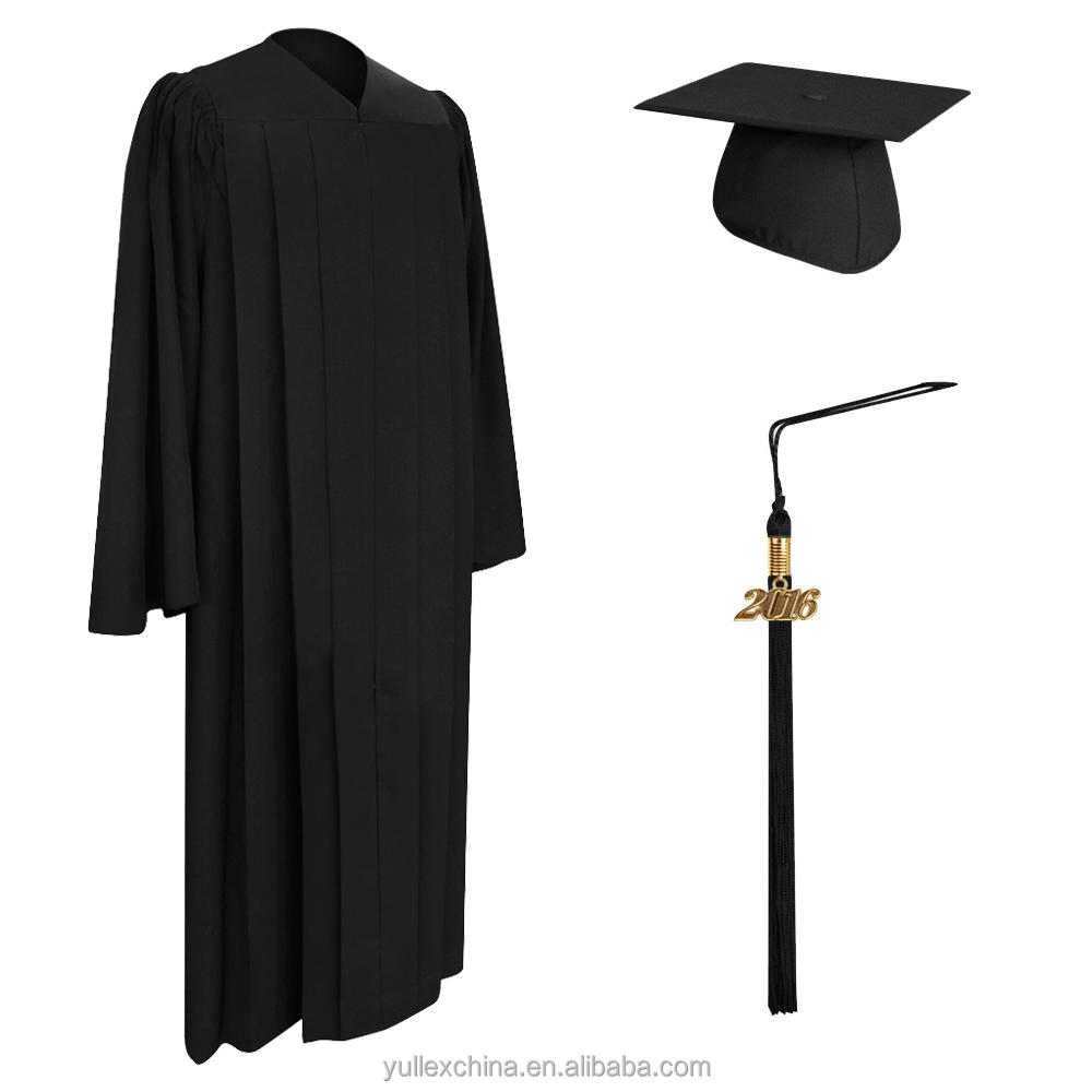 Deluxe Black Bachelor Graduation Cap,Gown & Tassel - Buy Deluxe ...