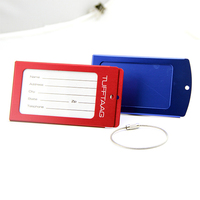 Custom Color Personalized Metal Luggage Tag with Straps