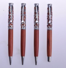 Eco-friendly bulk wholesale cheap colorful wooden metal pen