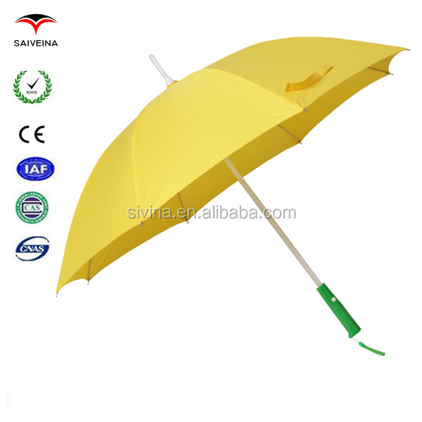 Cheap Promotion 23 Inches 8 Ribs Manual Open Straight LED Umbrella