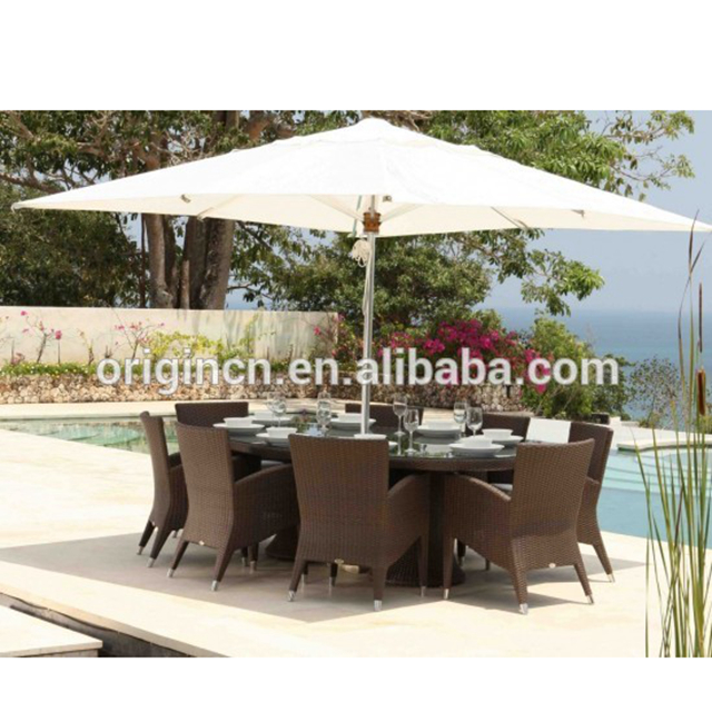 Woven Modern Hotel Outdoor Dining Table