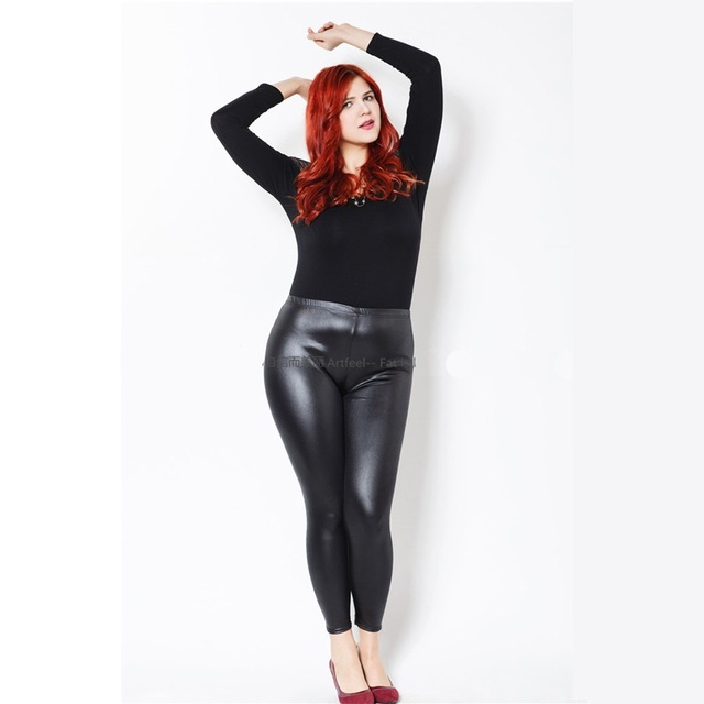 Plus Size Pu Leggings The Else
