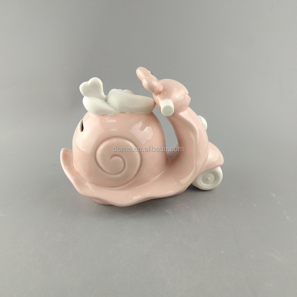 Ceramic cabinet motorbike piggy bank money saving box