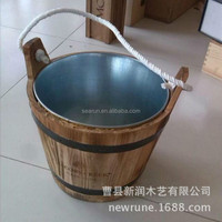 High Quality Customized Wooden Ice Barrel ,Ice Bucket Metal Stainless Steel