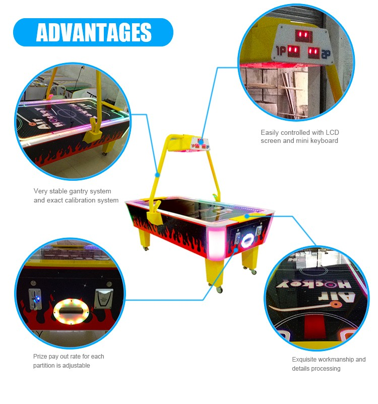 Table Air Hockey India Arcade Amusement Game Machine/2 in 1 Air Hockey Table With Pool Table