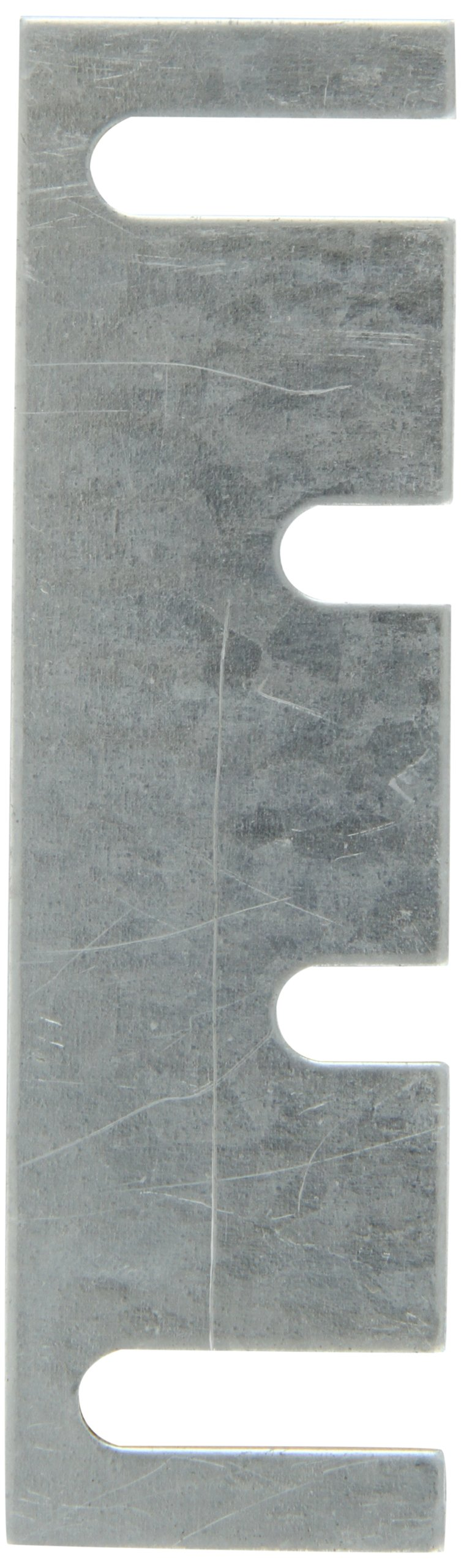 """Rockwood HS54 Steel Hinge Shim, 1-7/16"""" Width x 5"""" Height x 0.065"""" Thick, Galvanized Coat Finish (Pack of 50)"""