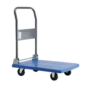 Plastic Low Price Foldable Push Caster Wheel Cart