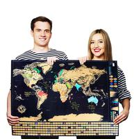LUXURY Scratch Map Travelling World Scratching Off Globe World Map With Gold Foil