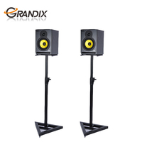 Adjustable Height Speaker Stand Holds Satellite & small Bookshelf Speakers