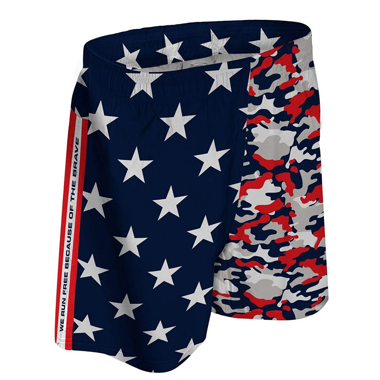 new style 8ccaa 969b5 Get Quotations · Gone For a Run Run Free Red White and Blue Running Shorts    Guys Running Shorts