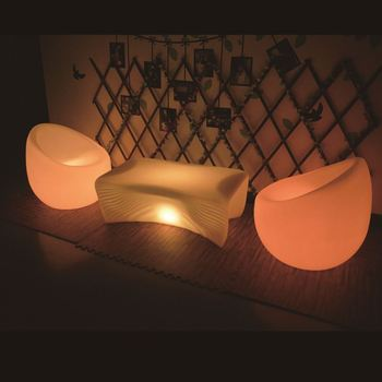 light up plastic bar chair led sofa with 16 colors changing