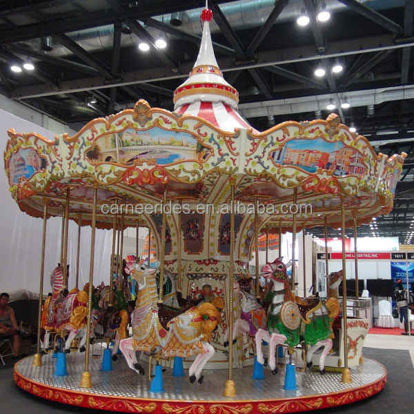 Extreme Beautiful & Luxury ! Theme Park European Style Amusement Kids Ride Carousel