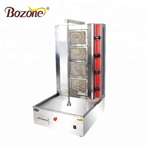 Professional Factory Supply Restaurant Equipment Desktop Vertical Electric Rotating Grill Shawarma Doner Kebab Making Machine
