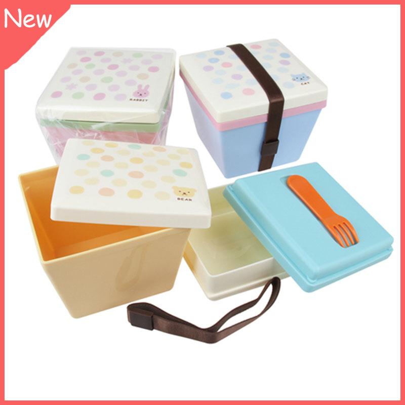 japanische lunchbox farbe dot cartoon druck bento lunch box modische erscheinung bento. Black Bedroom Furniture Sets. Home Design Ideas