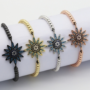Wholesale colored bangle connector bracelet , brass CZ jewelries changeable bracelet jewellery with big pendants