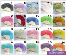 LGF020 colorful advertising cheap wedding fans wholesale