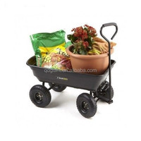 Plastic Garden Cart With Two Wheels Tc3004