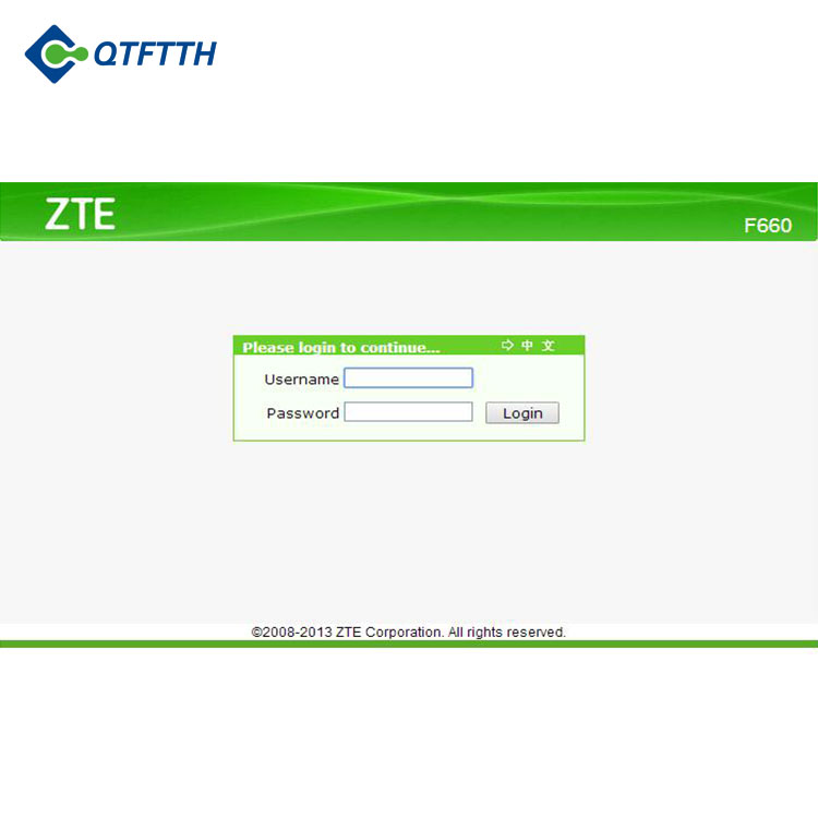 ONU Support PPPoE F660 6.0 Version ZTE GPON ONU SC/PC Fiber Port For Poland Market