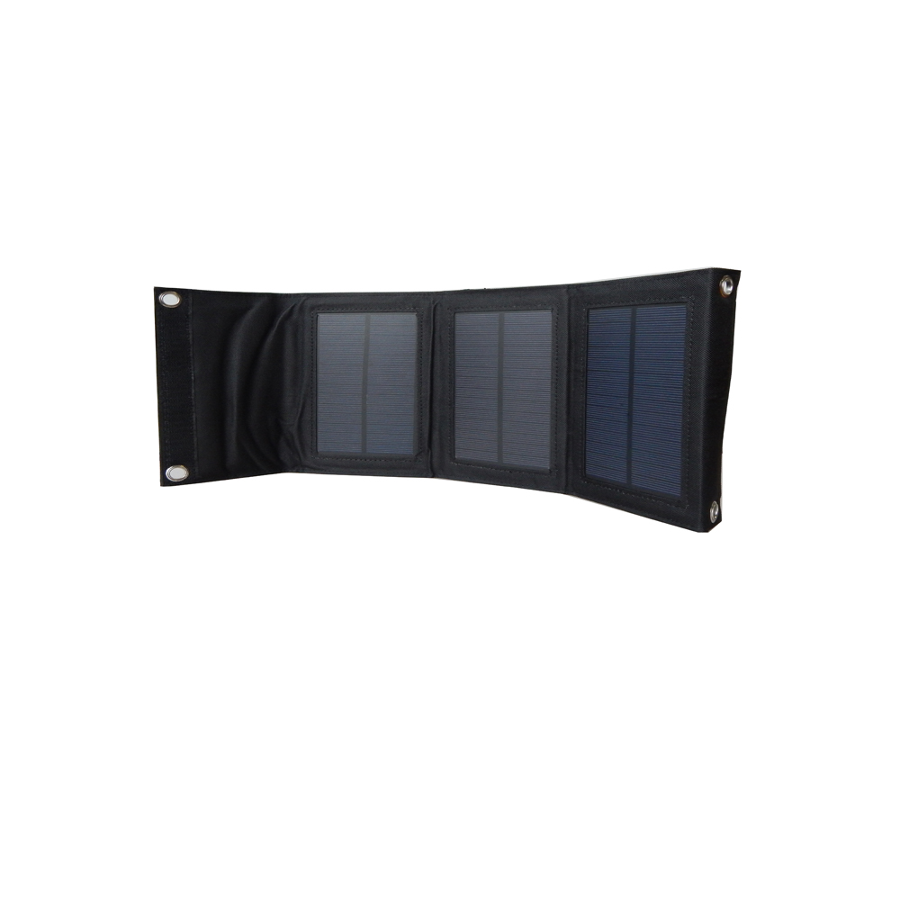 5V 7W shenzhen water proof solar power foldable mobile phone charger bag / folding portable solar panel charger bag