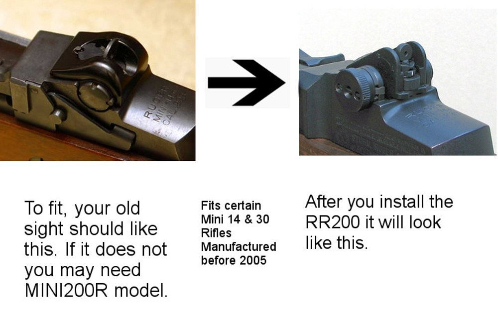 Tech Sights RR200 Adj. Aperture Sight for Select Ruger Mini 14 & 30 Rifles Pre-2005 Models