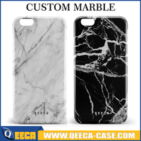 Custom name marble phone case, glossy plastic marble case for iPhone 6s , SE , 6 plus stone pattern phone case