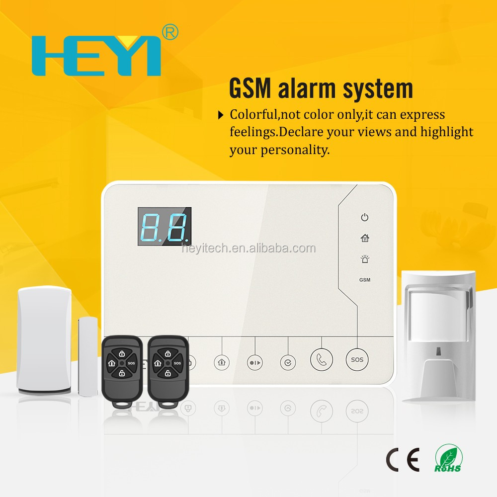 GSM alarm system with IP camera and view video anywhere GSM