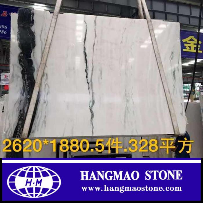 white marble with black veins ,Panda white marble