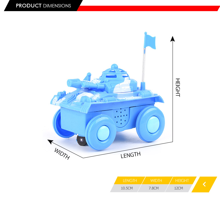 b/o kids tank car electric with light&music