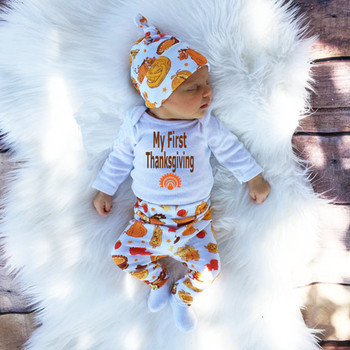 54fbab96d96d 2017 new fall clothes newborn infant 3pcs clothing sets my first thanksgiving  outfits