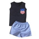 Wholesale children's boutique clothing baby summer set kids clothes teen boy clothes