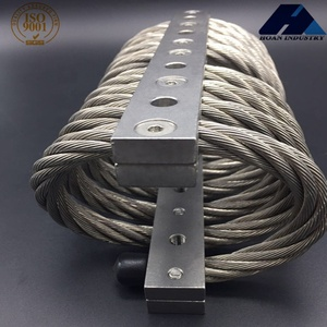 Defense Industry Engine Transformer Trailer Compressor Rail Vibration Shock Control JGX-1278D-176B Aluminum Wire Rope Damper