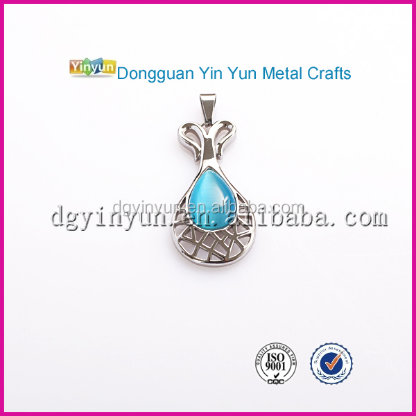 Unique Jewelry Stainless Steel Stone Bottle Shaped Pendant