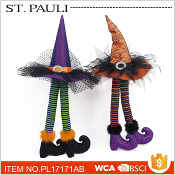 halloween witch hat legs table decoration gift ideas with high quality - Halloween Witch Decoration
