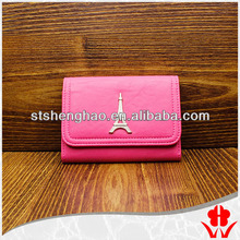 custom-made faux leather travel wallet women purses